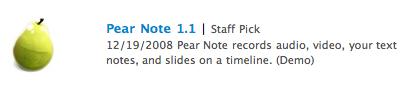 Staff pick on Apple downloads