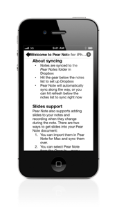 Pear Note for iPhone